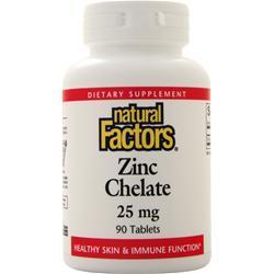 Buy Natural Factors, Zinc Chelate (25mg) 90 tabs at Herbal Bless Supplement Store