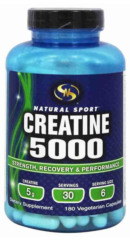 Buy Natural Sport, Creatine 5000, 180 cap vegi at Herbal Bless Supplement Store