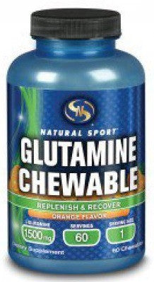 Buy Natural Sport, Glutamine Orange, 60 chewable at Herbal Bless Supplement Store