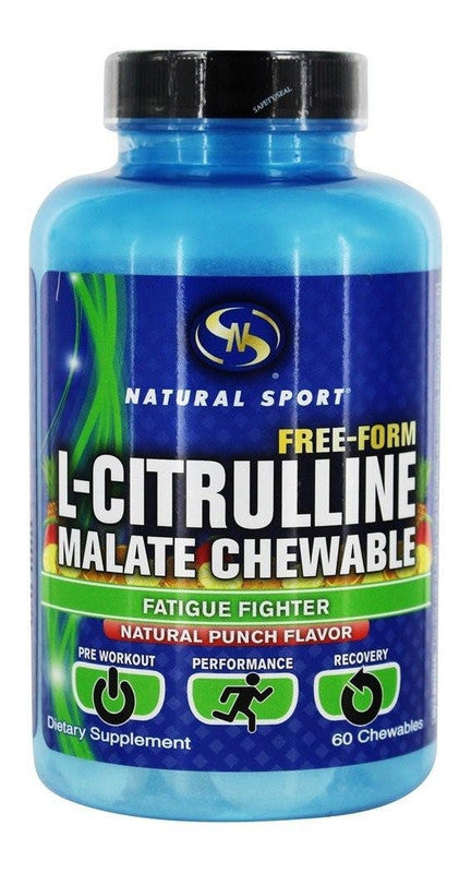 Buy Natural Sport, L-Citrulline Malate Natural Punch, 60 chewable at Herbal Bless Supplement Store