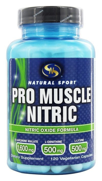 Buy Natural Sport, Pro Muscle Nitric, 120 Vegetarian Capsules at Herbal Bless Supplement Store