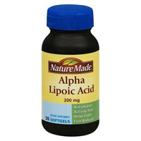 Buy Nature Made, Alpha Lipoic Acid 200 mg Softgels - 30 Count at Herbal Bless Supplement Store