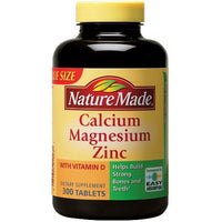 Buy Nature Made, Calcium Magnesium Zinc Tablets - 300ct at Herbal Bless Supplement Store