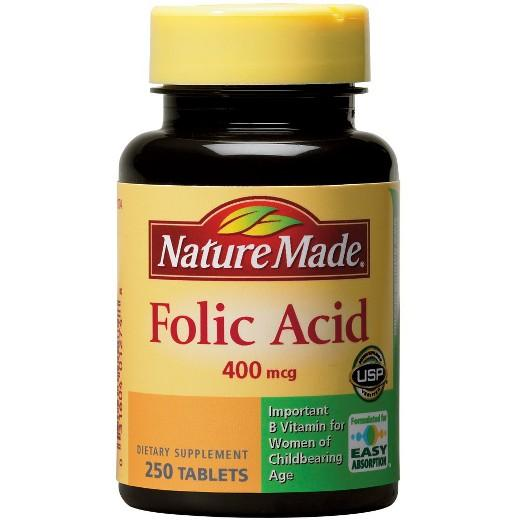 Buy Nature Made, Folic Acid 400 mcg Tablets - 250ct at Herbal Bless Supplement Store