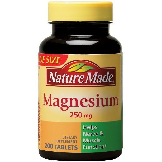 Buy Nature Made, Magnesium 250 mg Tablets - 200ct at Herbal Bless Supplement Store