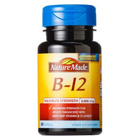 Buy Nature Made, Maximum Strength Vitamin B-12 5000 mcg Softgels - 60 Count at Herbal Bless Supplement Store