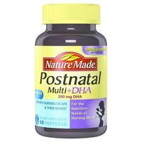 Buy Nature Made, Postnatal Multivitamin+DHA 200 mg Softgels - 60ct at Herbal Bless Supplement Store