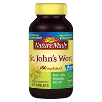 Buy Nature Made, St. John's Wort 450 mg Extract Tablets - 40 Count at Herbal Bless Supplement Store