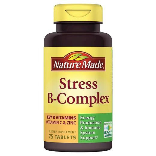 Buy Nature Made, Stress B-Complex with Vitamin C & Zinc Tablets - 75ct at Herbal Bless Supplement Store