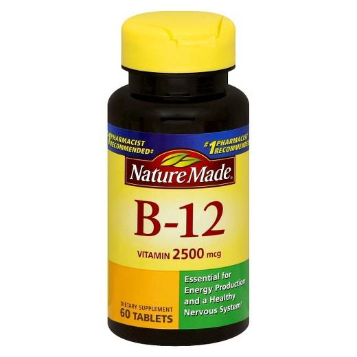 Buy Nature Made, Vitamin B-12 2500 mcg Tablets - 60ct at Herbal Bless Supplement Store