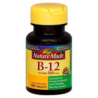 Buy Nature Made, Vitamin B-12 500 mcg Tablets - 100 Count at Herbal Bless Supplement Store