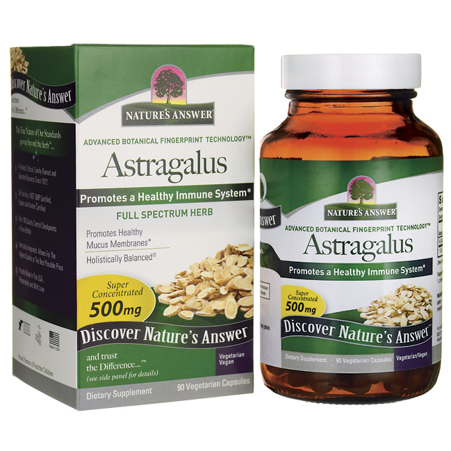 Buy Nature's Answer, Astragalus, 500 mg, 90 Veggie Caps at Herbal Bless Supplement Store