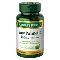 Buy Nature's Bounty, Saw Palmetto 450 mg Capsules at Herbal Bless Supplement Store