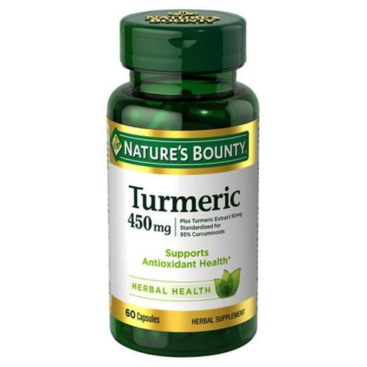 Buy Nature's Bounty, Turmeric 450 mg Capsules - 60 Count at Herbal Bless Supplement Store
