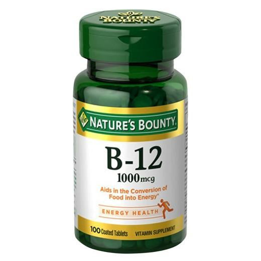 Buy Nature's Bounty, Vitamin B12 1000 mcg Tablets - 100 Count at Herbal Bless Supplement Store