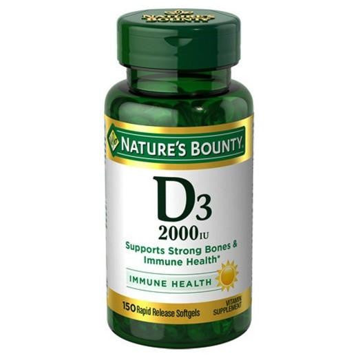 Buy Nature's Bounty, Vitamin D 2000 IU Softgels - 120 Count at Herbal Bless Supplement Store