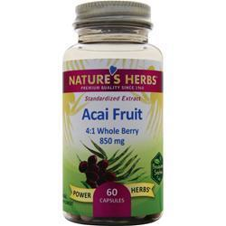 Buy Nature's Herbs, Acai Fruit (850mg) 60 caps at Herbal Bless Supplement Store