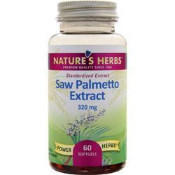 Buy Nature's Herbs, Saw Palmetto Power - Standardized Extract, 60 sgels at Herbal Bless Supplement Store