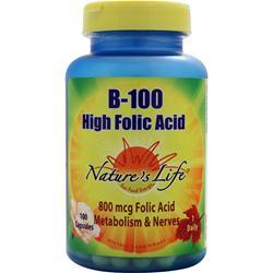 Buy Nature's Life, B-100 High Folic Acid, 100 caps at Herbal Bless Supplement Store