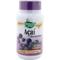 Buy Nature's Way, Acai - Standardized Extract, 60 vcaps at Herbal Bless Supplement Store