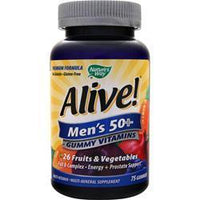 Buy Nature's Way, Alive! Men's 50+ Gummy Vitamins, 75 gummy at Herbal Bless Supplement Store