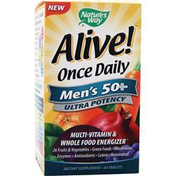 Buy Nature's Way, Alive Once Daily Men's 50+ Ultra Potency, 60 tabs at Herbal Bless Supplement Store