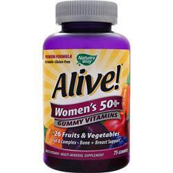 Buy Nature's Way, Alive! - Women's 50+ Gummy Vitamins, 75 gummy at Herbal Bless Supplement Store