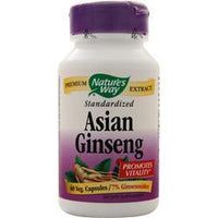 Buy Nature's Way, Asian Ginseng - Standardized Extract, 60 vcaps at Herbal Bless Supplement Store
