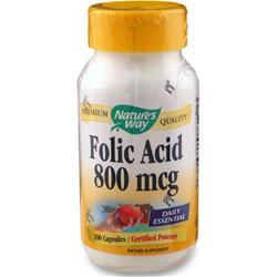 Buy Nature's Way, Folic Acid, 100 caps at Herbal Bless Supplement Store