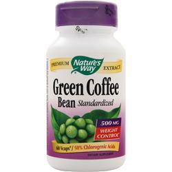 Buy Nature's Way, Green Coffee Bean (500mg) - Standardized, 60 vcaps at Herbal Bless Supplement Store