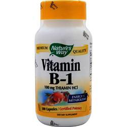 Buy Nature's Way, Vitamin B-1, 100 caps at Herbal Bless Supplement Store