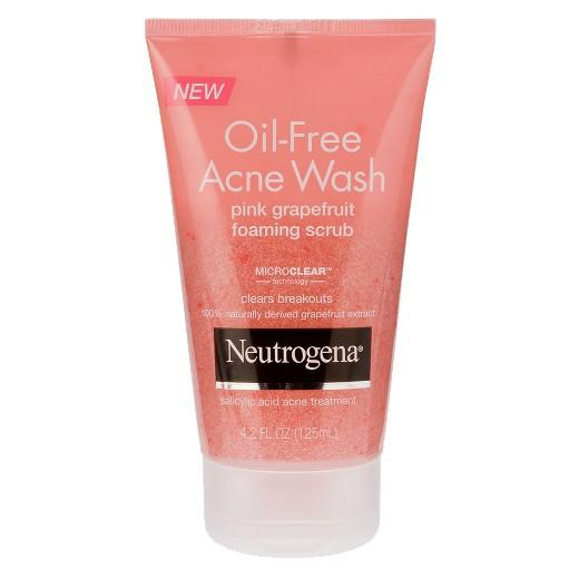 Buy Neutrogena®, Oil-Free Acne Wash Pink Grapefruit Foaming Scrub- 4.2 Oz at Herbal Bless Supplement Store