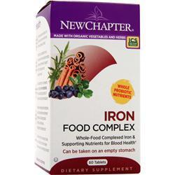 Buy New Chapter, Iron Food Complex, 60 tabs at Herbal Bless Supplement Store