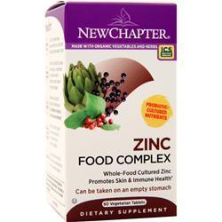 Buy New Chapter, Zinc Food Complex, 60 tabs at Herbal Bless Supplement Store