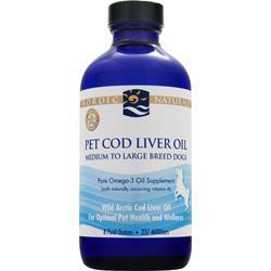 Buy Nordic Naturals, Pet Cod Liver Oil, Medium to Large Breed Dog 8 fl.oz at Herbal Bless Supplement Store