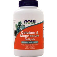 Buy Now, Calcium & Magnesium with Vitamin D and Zinc, 120 sgels at Herbal Bless Supplement Store