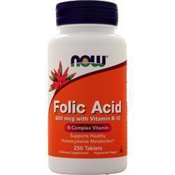 Buy Now, Folic Acid with Vitamin B-12 (800mcg) 250 tabs at Herbal Bless Supplement Store