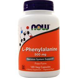 Buy Now, L-Phenylalanine (500mg) 120 caps at Herbal Bless Supplement Store