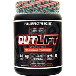 Buy Nutrex Research, OutLift - Pre Workout Powerhouse, Fruit Punch 512 grams at Herbal Bless Supplement Store