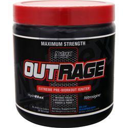 Buy Nutrex Research, Outrage - Extreme Pre Workout Igniter, Blue Raspberry 5.2 oz at Herbal Bless Supplement Store