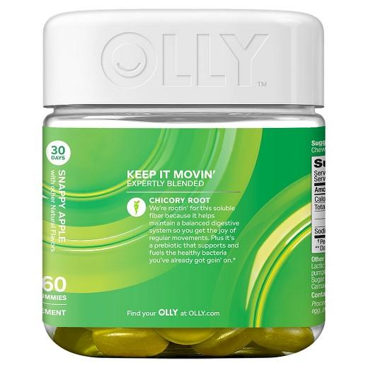 Buy Olly, Keep It Movin' Fiber Snappy Apple Vitamins Gummies - 60ct at Herbal Bless Supplement Store