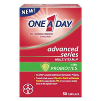 Buy One A Day, Advanced Series Multivitamin With Probiotic Capsules - 50ct at Herbal Bless Supplement Store