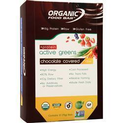 Buy Organic Food Bar Active Greens + Protein Raw, Chocolate Covered 12 bars at Herbal Bless Supplement Store