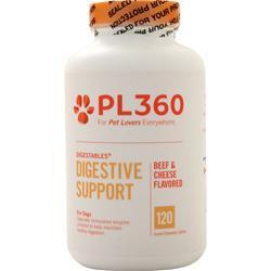 Buy PL360, DigestAbles for Dogs, Beef & Cheese Flavor 120 tabs at Herbal Bless Supplement Store