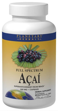 Buy PLANETARY HERBALS, Acai Extract Full Spectrum™ 500mg, Capsules at Herbal Bless Supplement Store