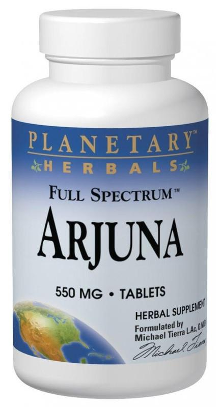 Buy PLANETARY HERBALS, Arjuna 500mg Full Spectrum™, Tablets at Herbal Bless Supplement Store