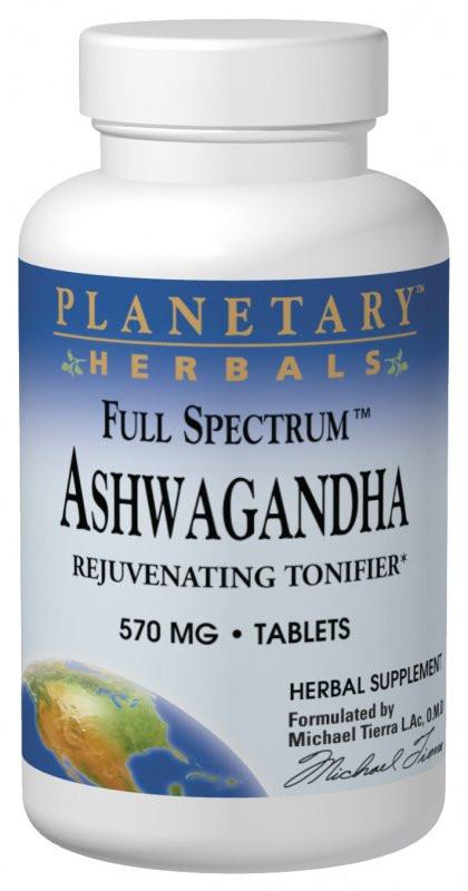 Buy PLANETARY HERBALS, Ashwagandha 570mg Full Spectrum™, Tablets at Herbal Bless Supplement Store