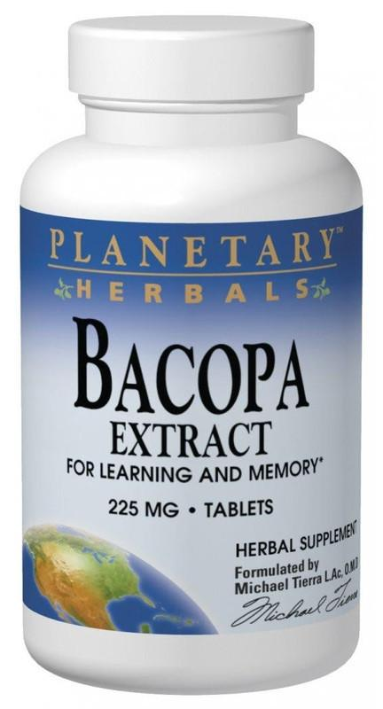 Buy PLANETARY HERBALS, Bacopa Extract 225mg, Tablets at Herbal Bless Supplement Store