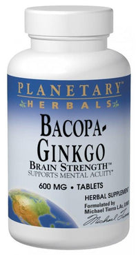 Buy PLANETARY HERBALS, Bacopa-Ginkgo Brain Strength™, Tablets at Herbal Bless Supplement Store