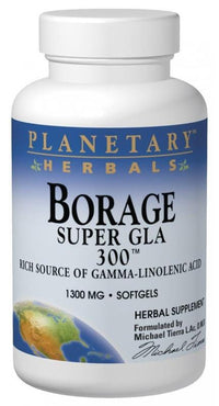 Buy PLANETARY HERBALS, Borage Super GLA 300™ 1300mg, Softgels at Herbal Bless Supplement Store